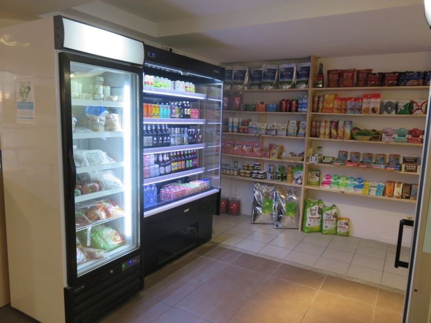 shop vegan items inside Veganerie, Louvain