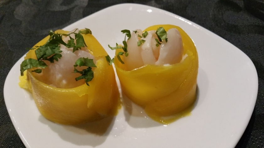Liche with mango and rice