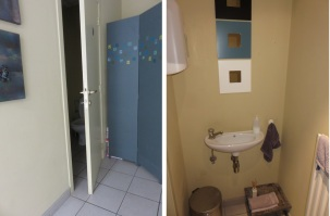 vegaverso, toilet in the back, clean and tidy