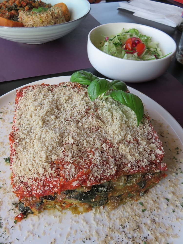 vegetable lasagne, 21€