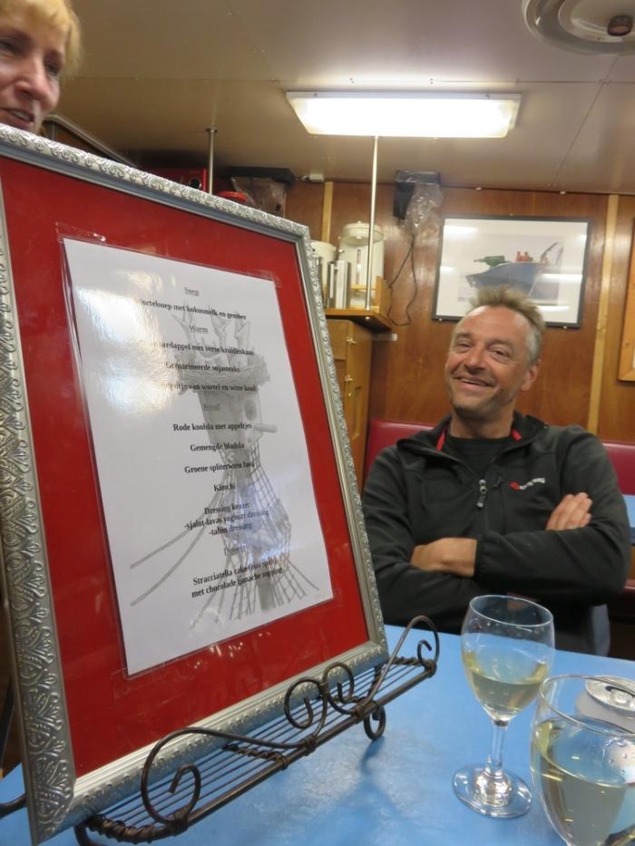 Tom Waes and dinner menu