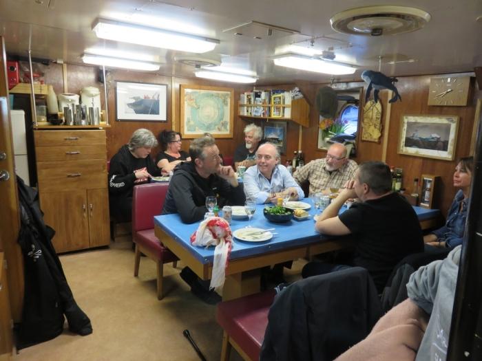 Dinner on board the Sam Simon in Antwerp