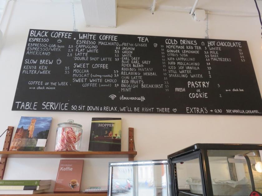 coffee and tea at Vero Caffè, Bruges