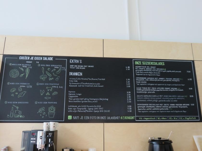 Zukini, menu