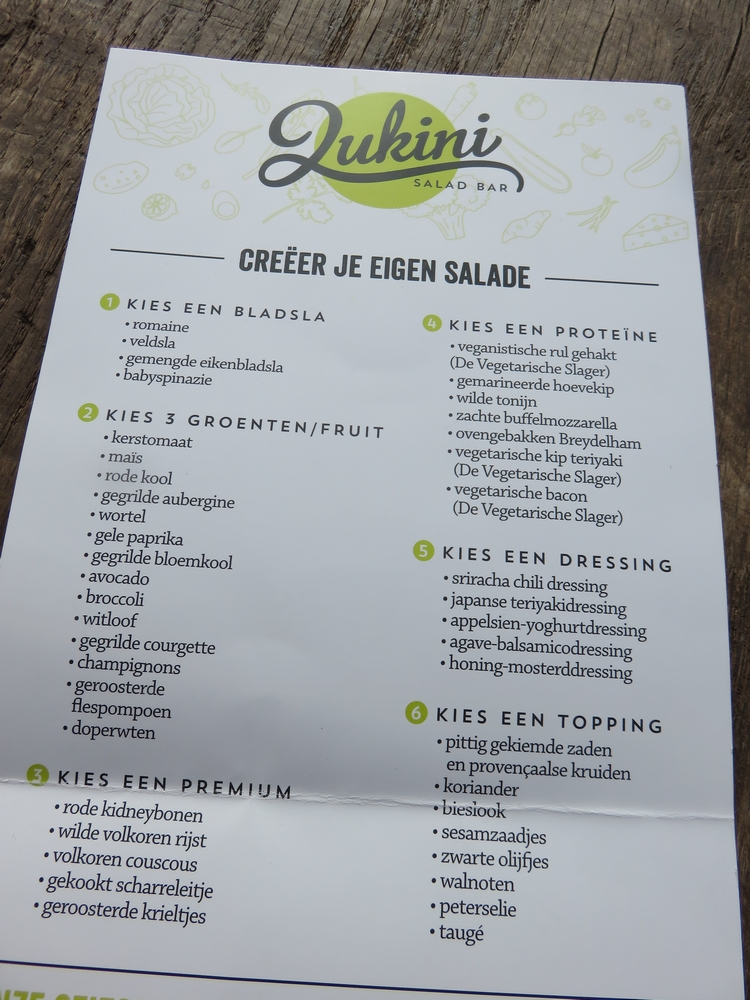 menu, Zukini