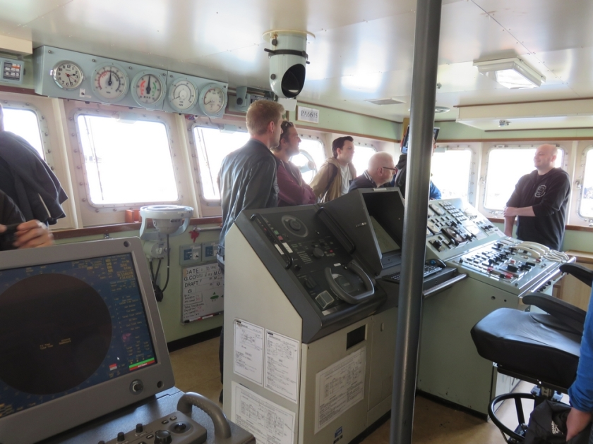Inside the bridge of the Sam Simon