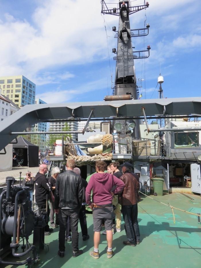 On board the Sam Simon, She Shepherd in Antwerp