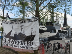 the Sam Simon, Sea Shepherd, in Antwerp