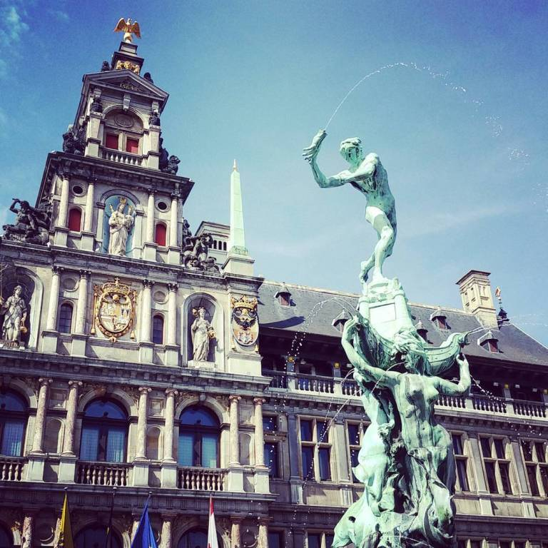 Brabo and city Hall, Anwterp