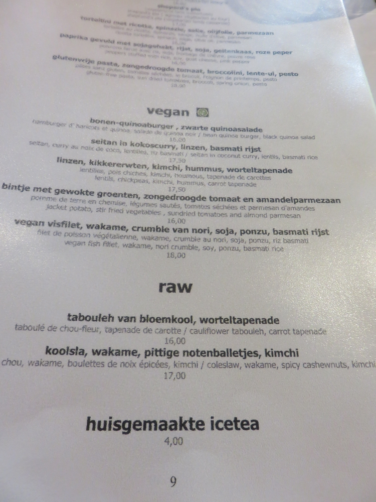 vegan dishes at Mykeke, Louvain