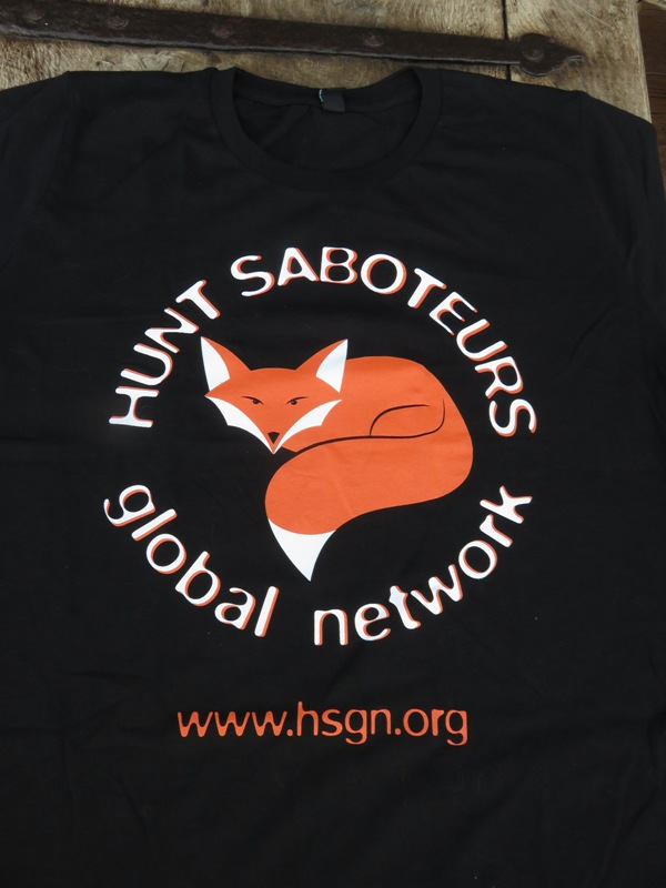 Bought this T-Shirt from Hunt Saboteurs Association (20€)