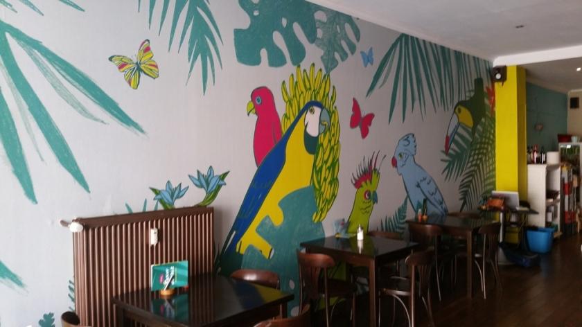 Funky Jungle, interior