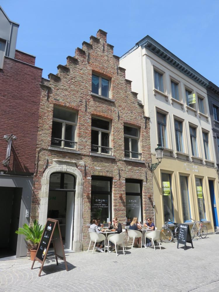Grün, Bruges, front of the restaurant