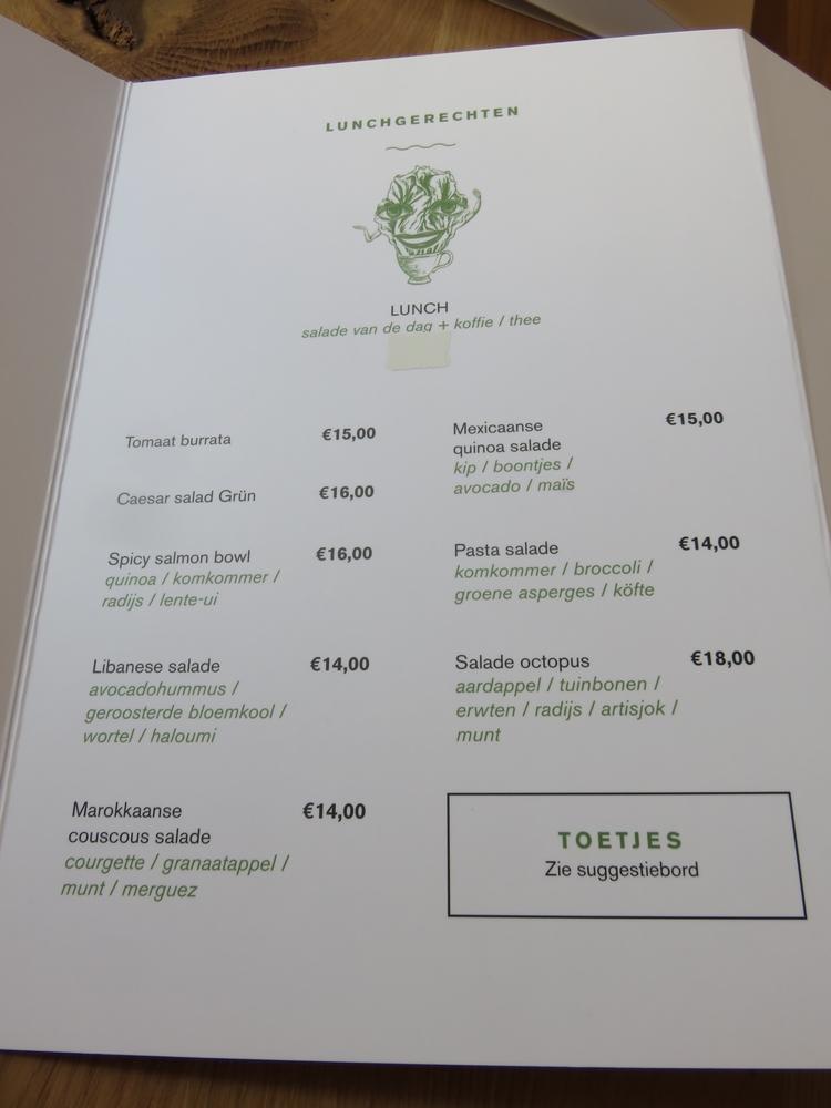 menu, Grün Bruges
