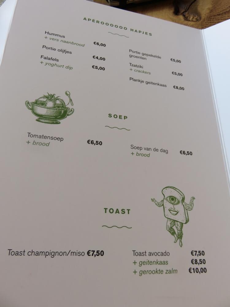 menu Grün, Bruges