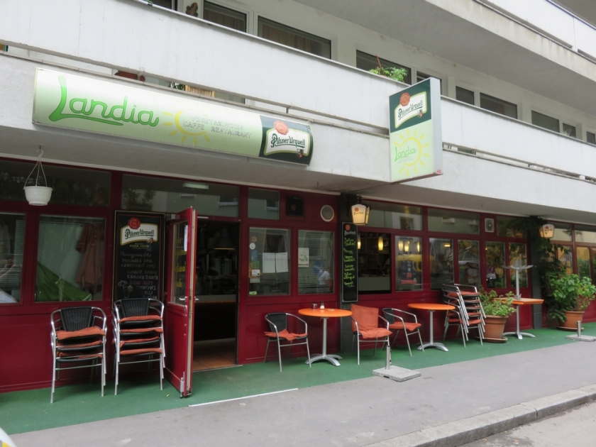 vegetarian restaurant Landia, Vienna, Austria