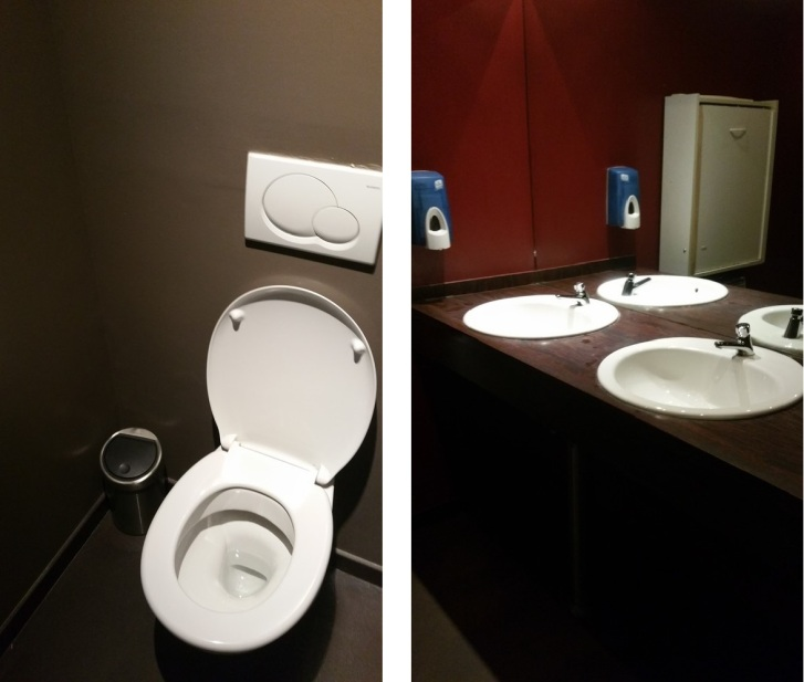 Toilets Bottarga, spacious, clean