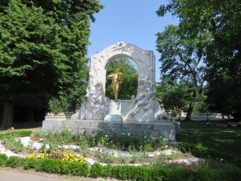 The Johan Strauss Memorial, in Stadtpark, near Tian, Vienna