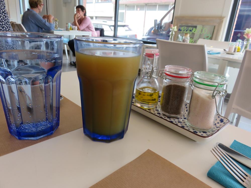 juice + sparkling water