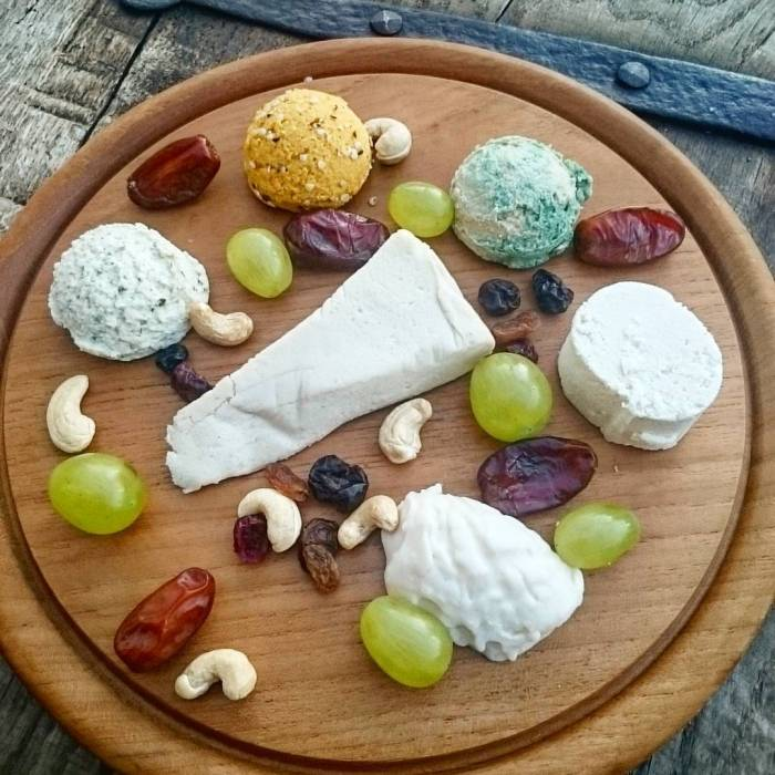 bough this fine selection of vegan cheezes