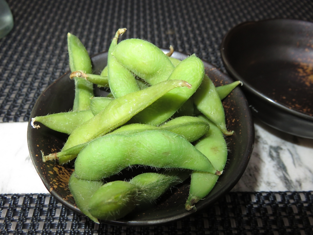 small appetizer, edame beans