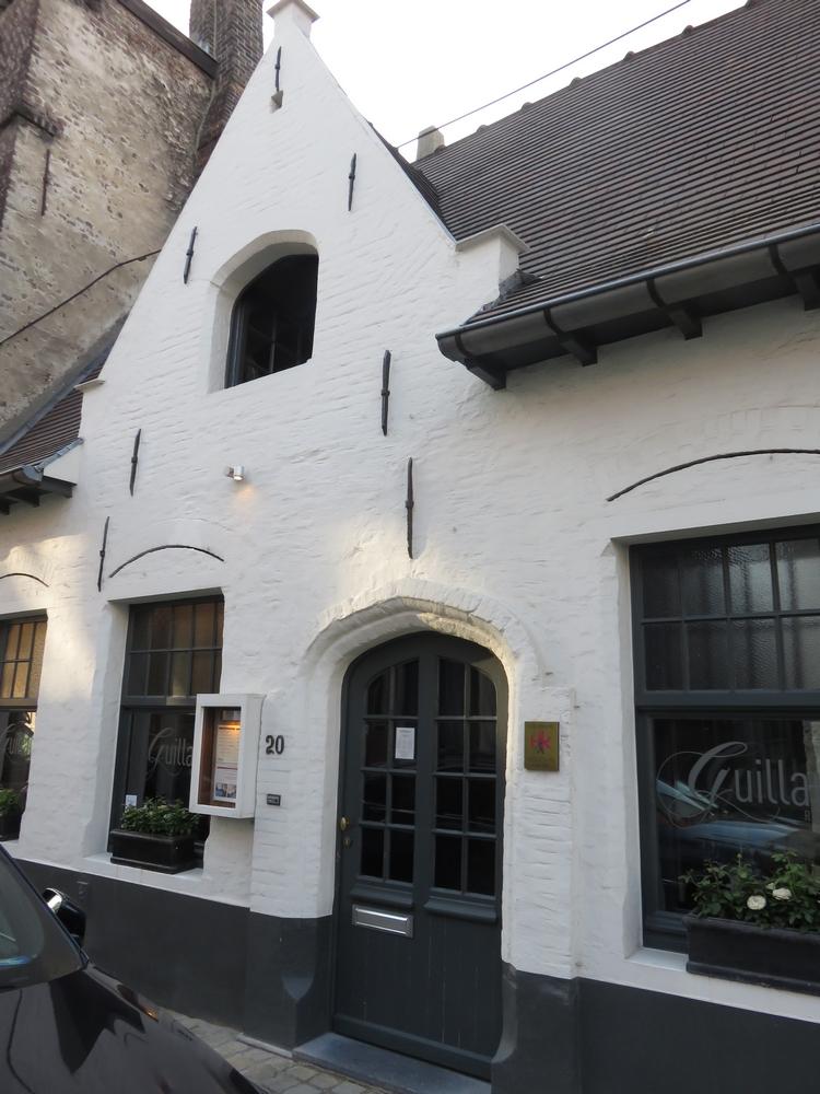front of restaurant Guillaume, Bruges