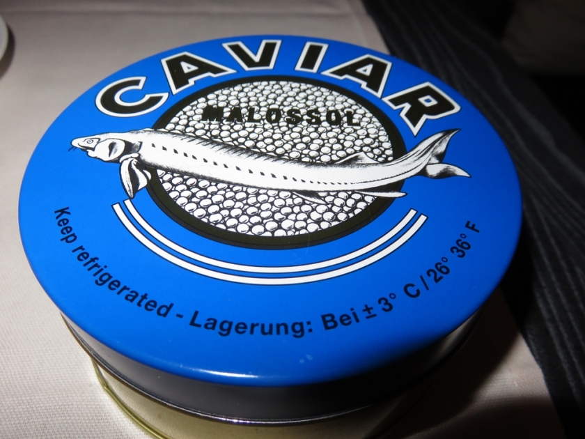 the bill came in a pot of caviar