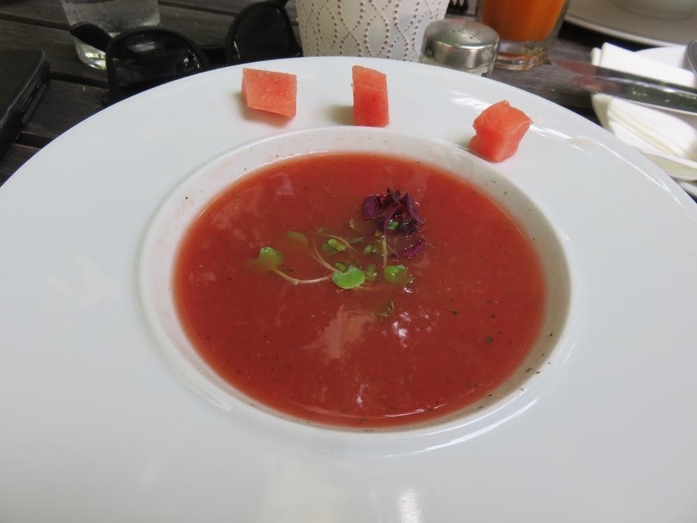 Melone gazpacio soup