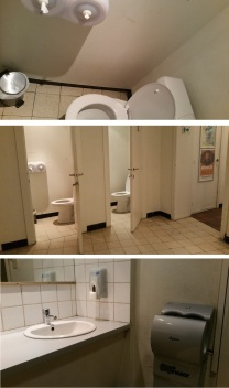 De Republiek, toilets, bit outdated