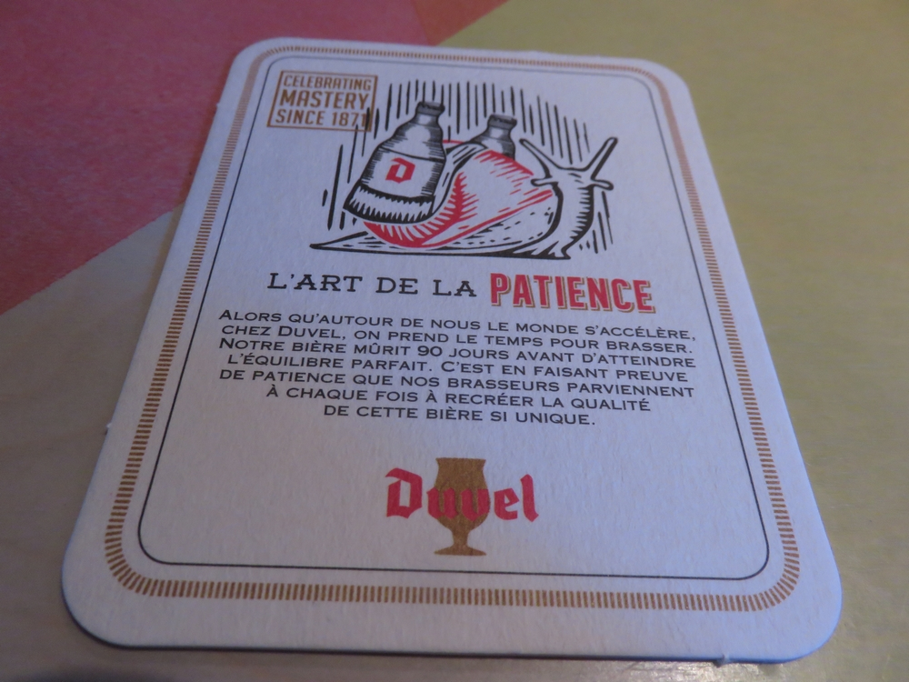 L'art de la patience ... well we had to be patient, waiting over half an hour for our food