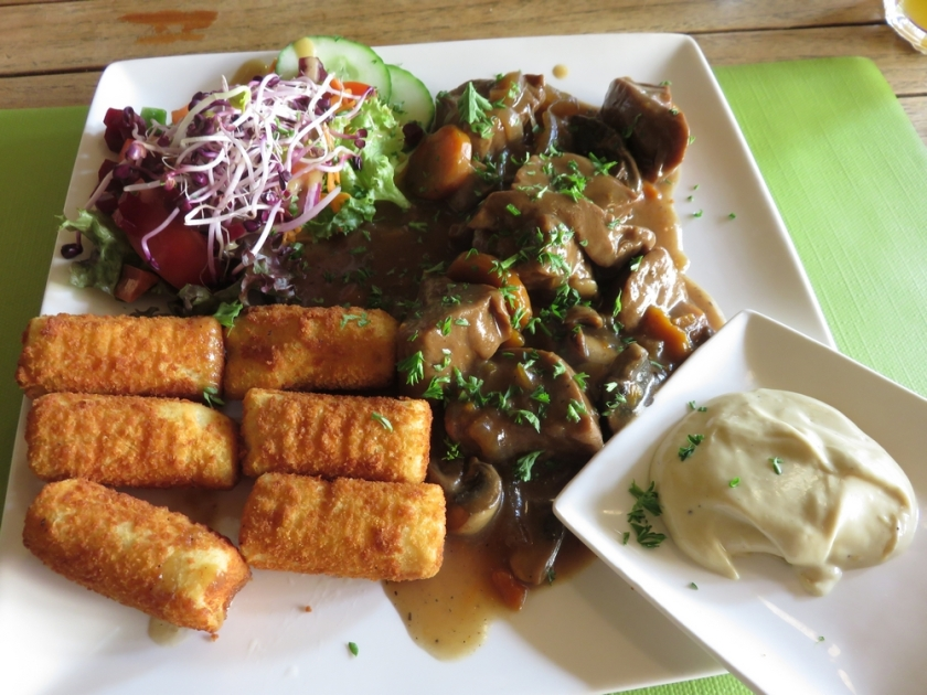 Seitan stew with croquettes, Mosquito Coast, Ghent