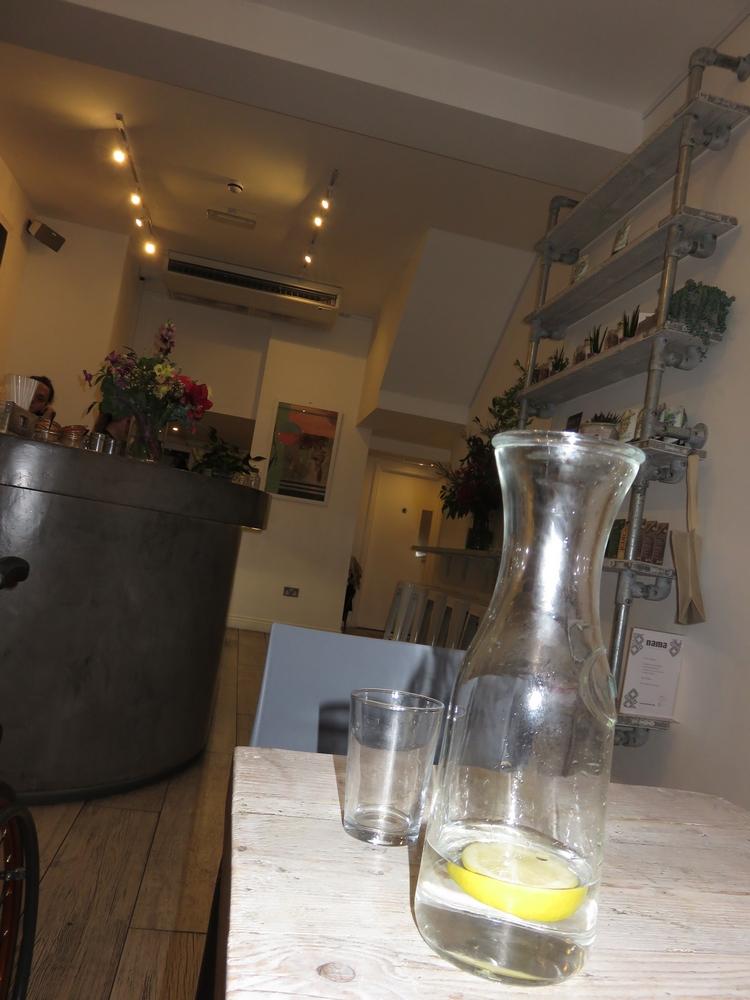 free water, Nama Foods, London