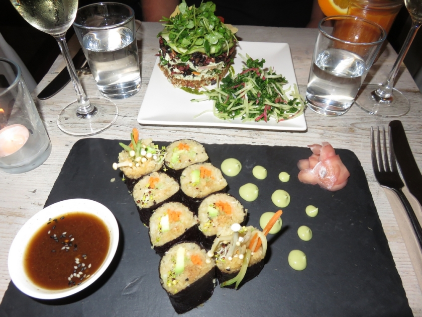 Our dinner at Nama Foods, London