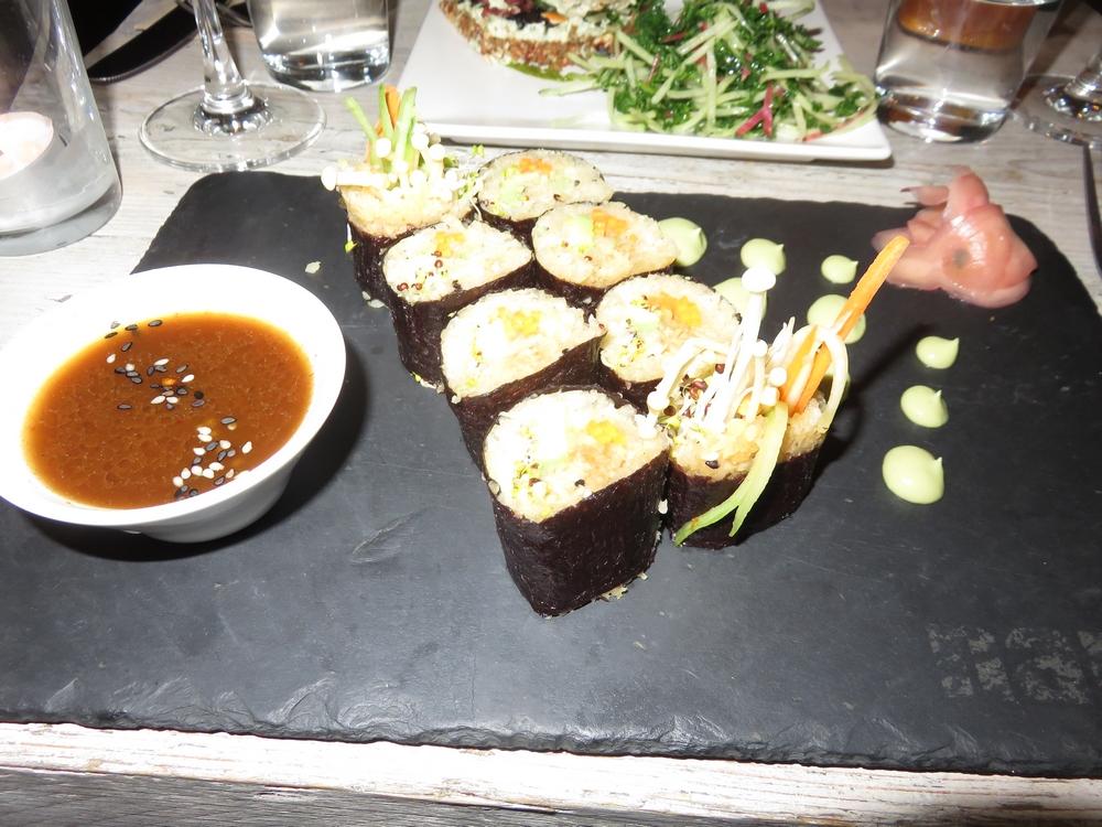 vegan sushi £14