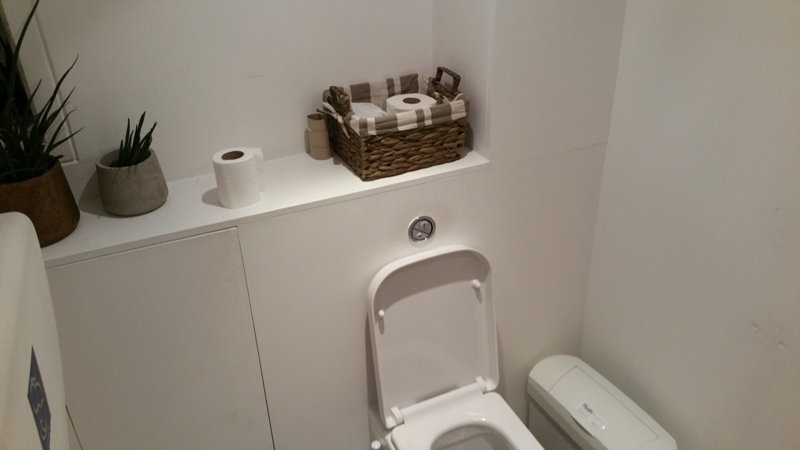 toilet at nama Foods, clean and tidy