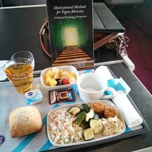 lunch on Eurostar train, on our way to VegFest London