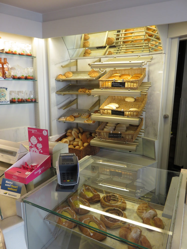 a look inside Bakkerij Filip (note that not all items on photo are vegan - it is not an all vegan bakery).