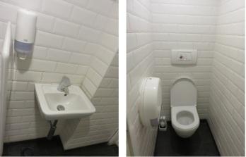 Bistro Piazza, toilets downstairs