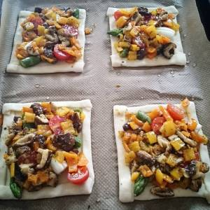 Ready to go in the oven! Inspiration of the moment.