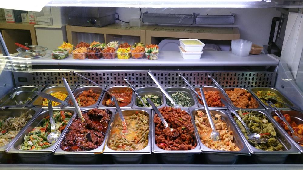 vegetarian selection (most vegan), Bunga Mas, Leiden