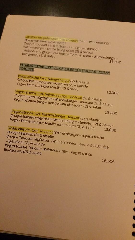 vegan options, Le Touquet, Ostend