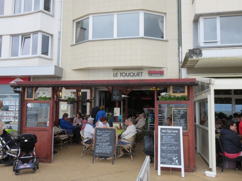 Le Touquet, fron terrace at beach promenade, Ostend