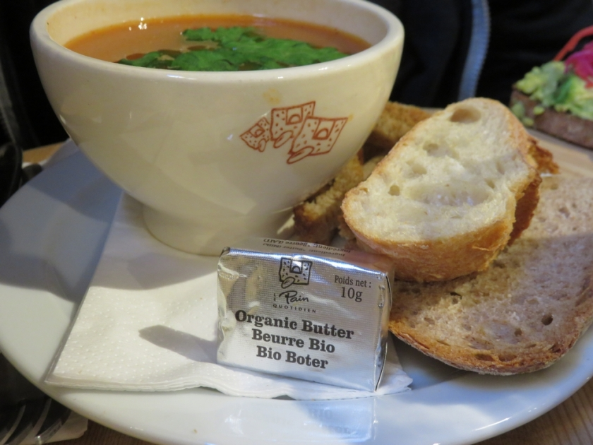 soup and read with ... butter. AGAIN8 Le Pain Quotidien, Bruges