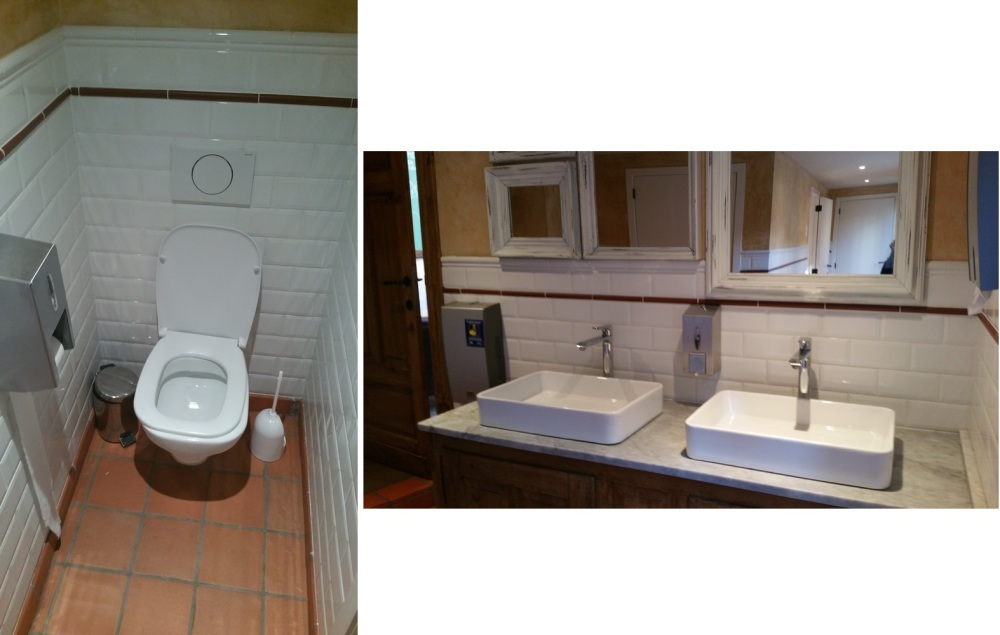 toilets at the back of Le Pain Quotidien, Bruges