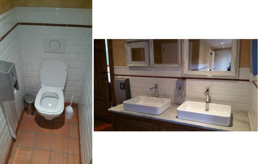 toilets at the back of Le Pain Quotidien, Bruges