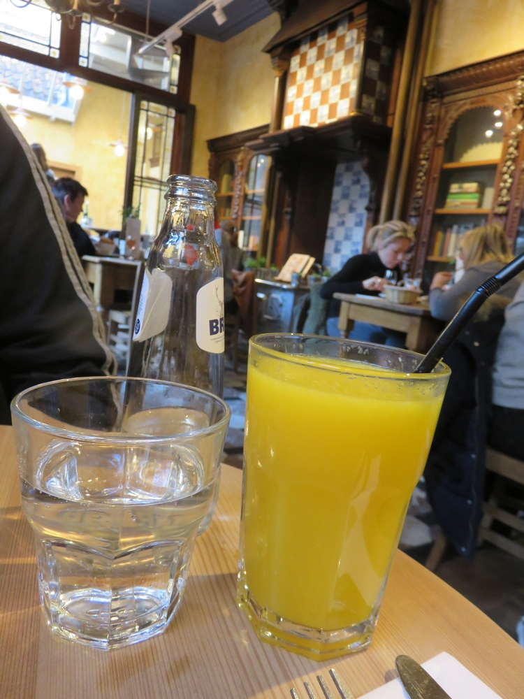 Drinks at Le Pain Quotidien, Bruges