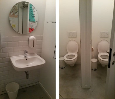 toilets at Noordoever, clean and tidy