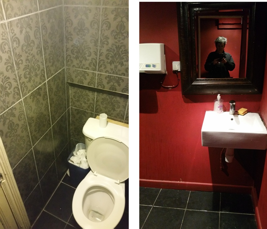 Toilets at Tai Buffet, London, coule be cleaner!