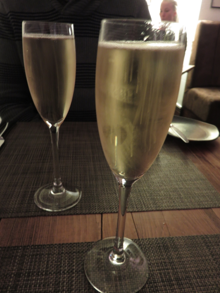 Glass of champagne, £9,75 each