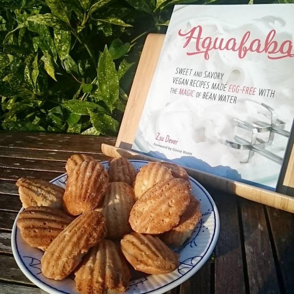 vegan madeleines, recipe ffrom The Aquafaba Cookbook